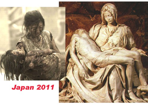 """....they are no words for the devastation a Mother feels after loosing a Child""      This photo exemplifies the void  only a Mother can feel, holding one that was once Her.      --- [Right] Pieta by Michelangelo      Please HELP Japan & Haiti"