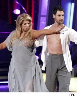 "and Around, and Around and Around! Kirstie Alley, please. What in heavens is this Woman trying to prove? This demonstration of true awkwardness on Mondays, DWTS, clearly illustrates why Ballerinas titter on 100 pounds or less. When two people are dancing, implicitly, with one depending on the others movement and response,while  in motion, it is no wonder why those two people need to be extremely light on their feet and in shape. The DWTS Show has turned into a ""Pity Palace of Wanabees"". There some things in this world that should be held Sacred and not contorted with People of questionable talent with aspirations of being Prodigy's. Leave the Dancing to Trained, Skilled, Seasoned Professionals that can engage an audience instead of embarrassing Us and Themselves. Kirstie needs those fat little feet stuck in the sand on a Beach with a very high tide. Gives us a break!"