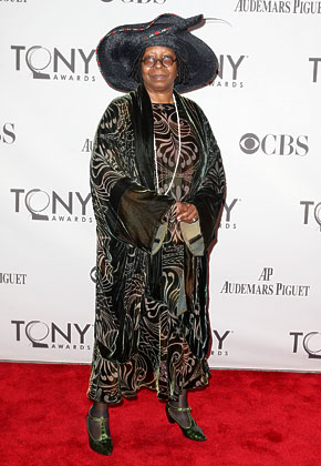 photo of The View's Whoopi Goldberg, who attended the Tony Awards in NYC on June 12.