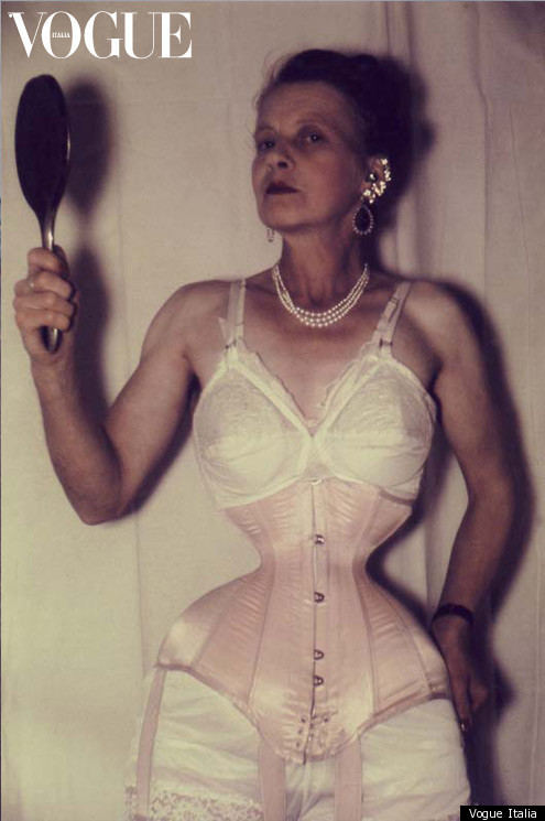 After years of corsets, Ethel Granger finally achieved a Guinness Book of World Records-worthy 13-inch waist, as well as a signature look involving a variety of facial piercings. We have an exclusive pic below, as well as more on Vogue Italia's website.