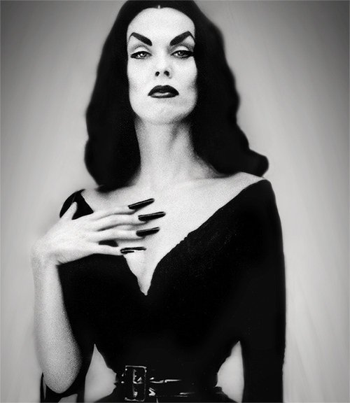 Maila Nurmi (December 11, 1922 – January 10, 2008)[1] was a Finnish-American actress who created the campy 1950s character Vampira. She portrayed Vampira as TV's first horror host and in the Ed Wood cult film Plan 9 from Outer Space.[2] She also appeared in the 1959 movie The Beat Generation as Vampira.[3]