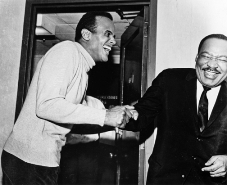 What are Harry Belafonte and Martin Luther King, Jr., laughing about? Mr. Belafonte's new memoir, My Song, was released today by aaknopf.