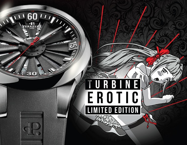 "Perrelet has just announced a few limited edition erotic watches based on the original Turbine. These are done in a Japanese anime style, which is often referred to as ""hentai"" when it deals with pornographic or erotic art. This cartoon erotic art is quite popular and has origins going back to the 19th century or earlier. Using the spinning turbine concept on the dial, the images are placed on the dial and only really visible when the turbine (activated by wrist movement) is spinning quickly. …"