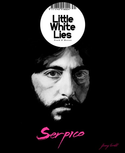 inspirarch:      Jimmy Turrell's design/illustration portfolio includes this cover for Little White Lies Magazine that was included in the magazine's 70s film retrospective exhibition at London's Kemistry Gallery.      Check out a close look at the work and shots from the exhibition here.