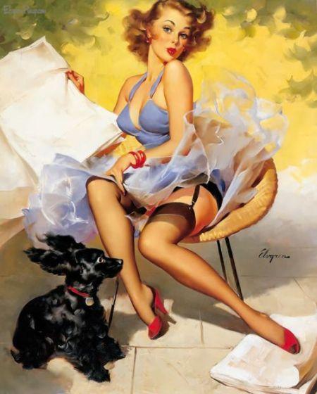 1950s Pin Up Art By Gil Elvgren