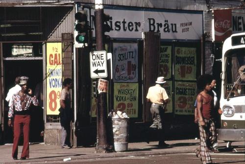 Street scene on 47th Street, May 1974.