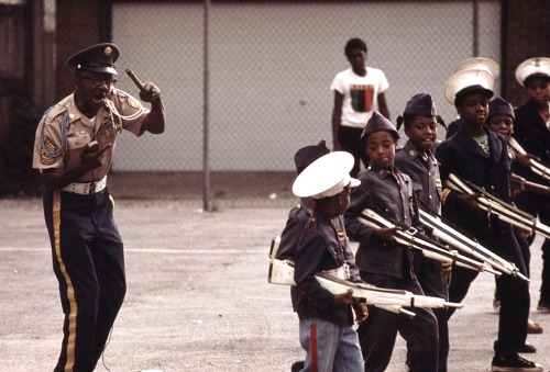 The Kadats of America, a young drill team, perform on a Sunday afternoon