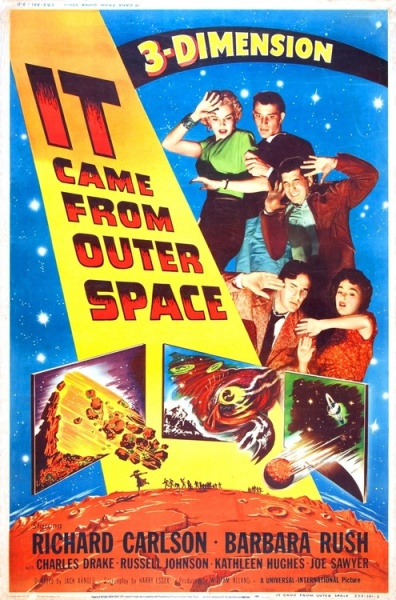 It Came From Outer Space'in 3-D -1953 film poster