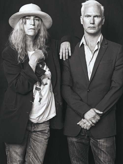 Patti Smith and Klaus Biesenbach